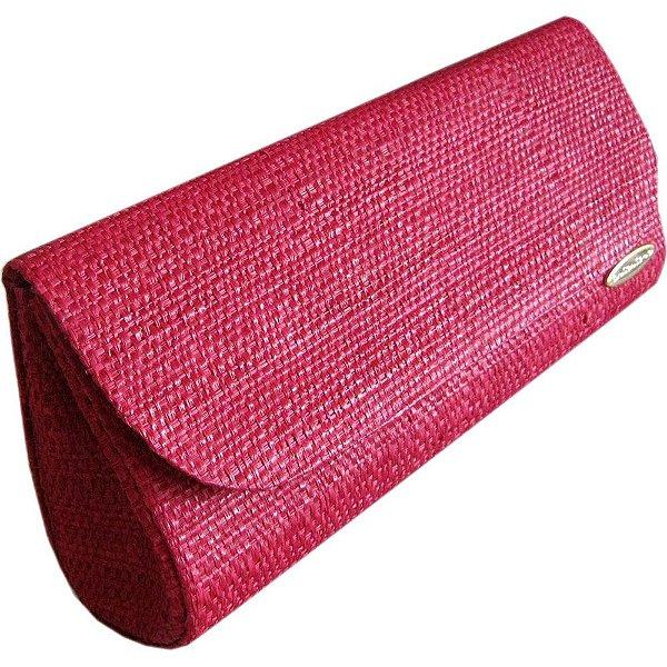 Clutch Bolsa Carteira de Mão em Palha Buriti Vermelha
