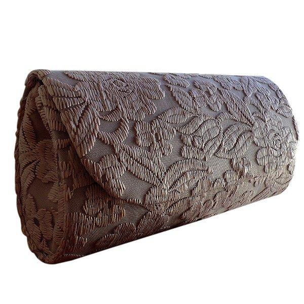 Clutch Bolsa Carteira de Mão em Renda - Preta, Azul, Salmão, Bege