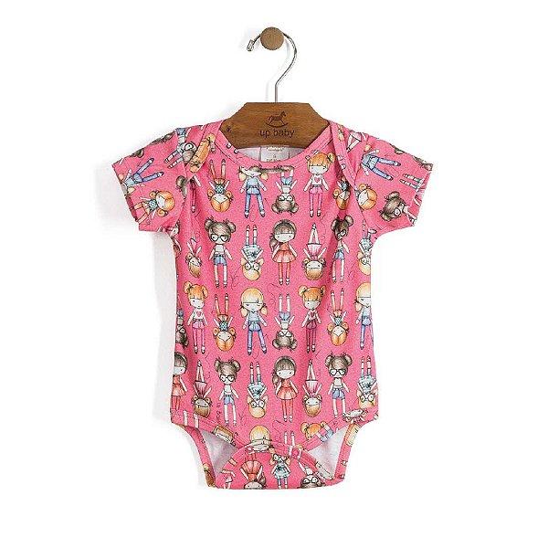 Body em Suedine Estampado Bonecas - Up Baby