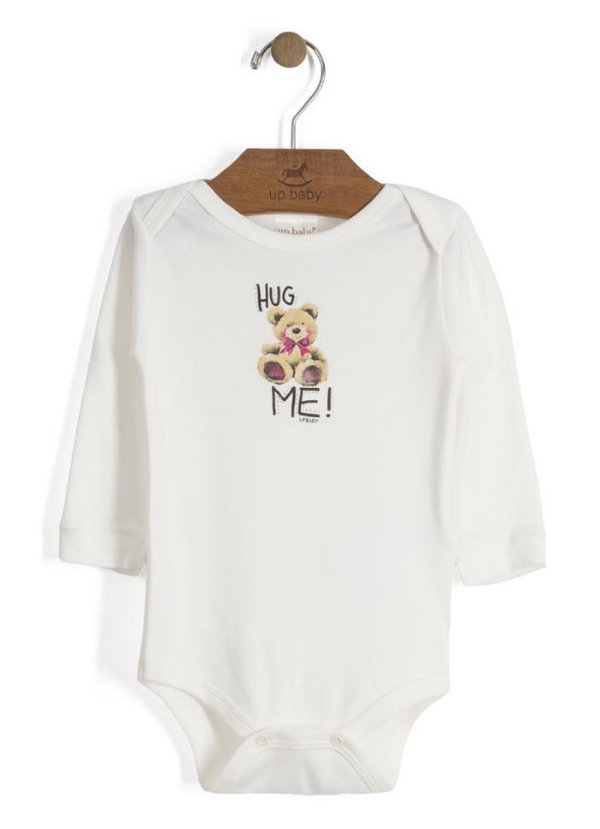 Body Manga Longa Urso - Up Baby