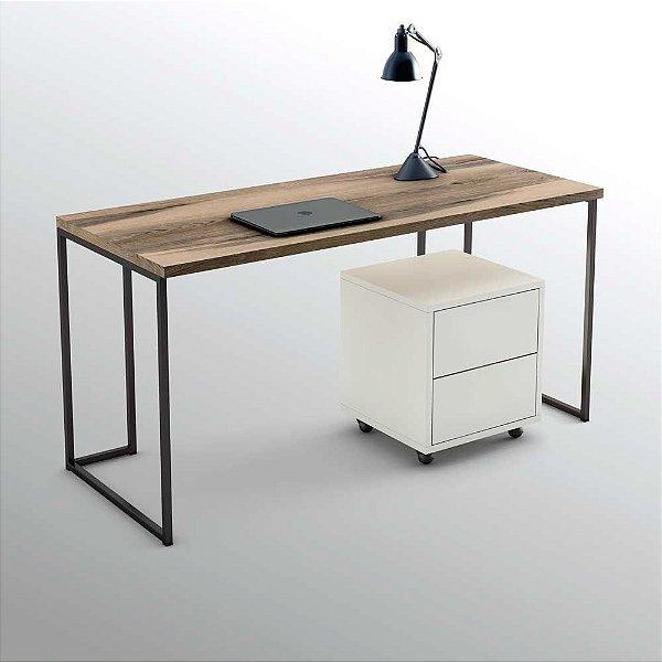 Escrivaninha Industrial - Mesa Home Office - Escolha o tamanho e cor - 100% MDF e Metalon