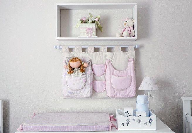 Nicho com Varão para quarto de bebê - Em Madeira - Decore o Quarto do Bebê