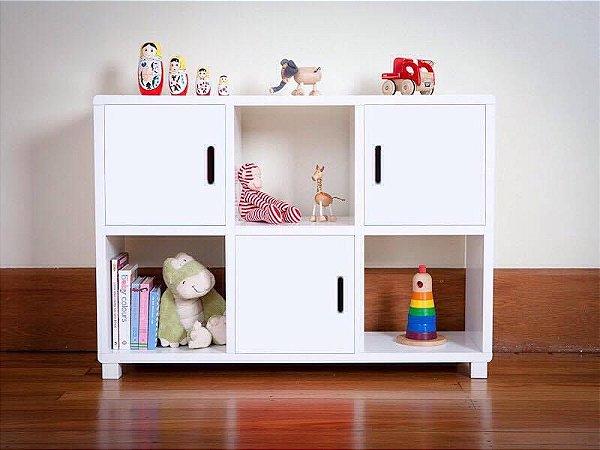 Estante de Nichos Infantil com Portas - Organize o quarto das crianças! - Em Madeira 100% MDF 18mm