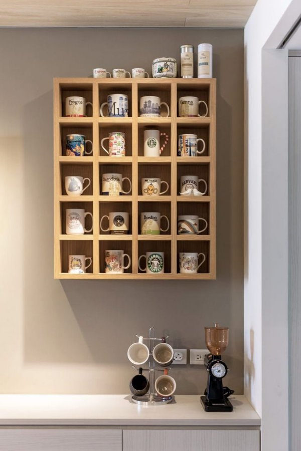 Suporte de parede para xícaras - 100% MDF 18mm - Escolha sua cor!