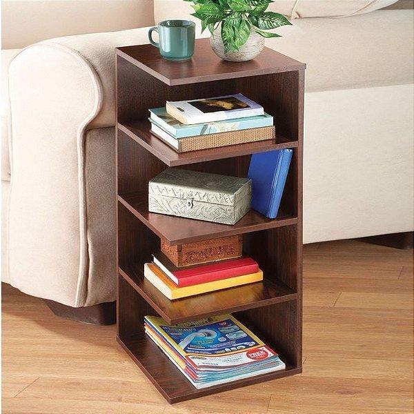 Mesa de Cabeceira Para Livros - Design Contemporâneo - Escolha Sua Cor!