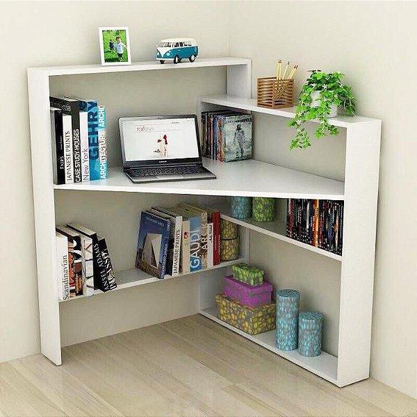 Mesa de canto com suporte para livros - MDF 18mm