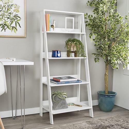 Estante escada de madeira 100% MDF - Opção de cores