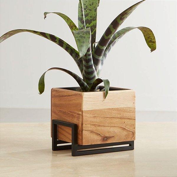 Suporte de plantas de metal e madeira - MDF