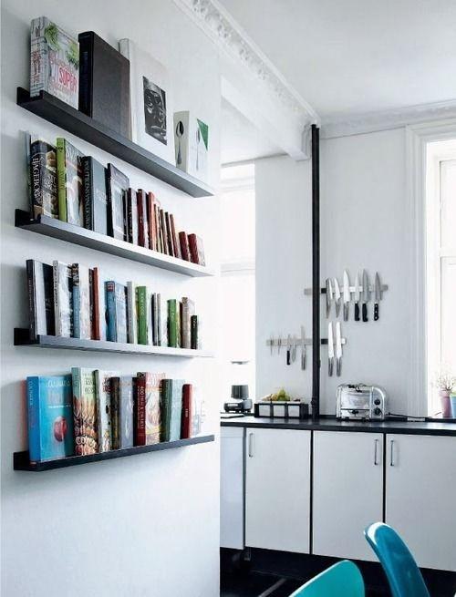 Conjunto com Quatro Prateleiras de Madeira para Livros - 100% MDF - Opções de cores