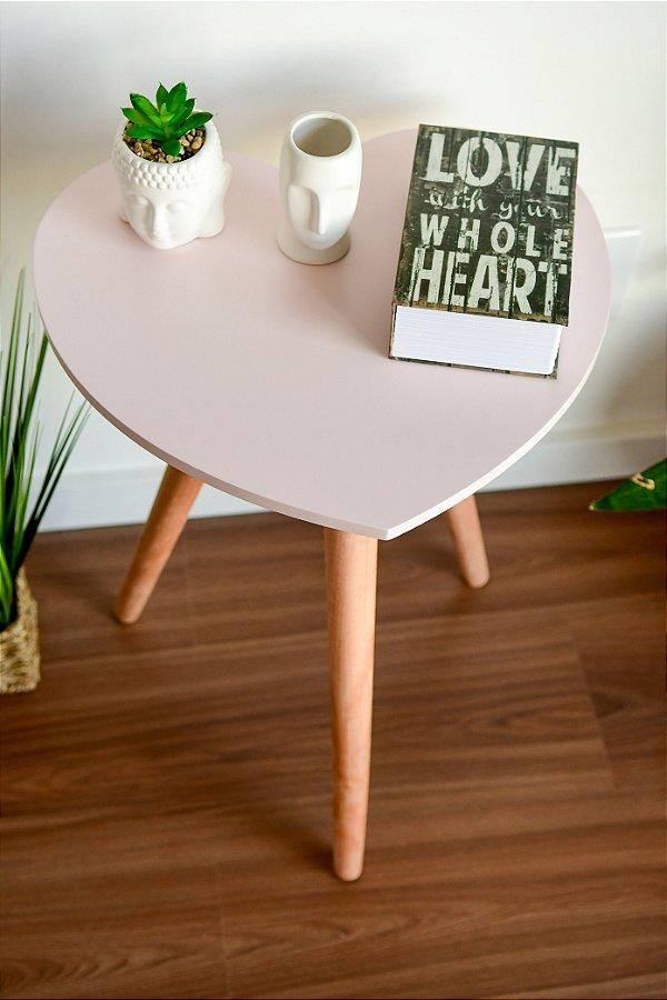Mesa com pés Palito nos formatos Coração, Nuvem e Folha - Opções de Cores