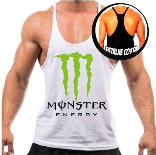 Camiseta regata cavada Monster energy