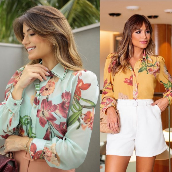 Camisa Crepe Floral - Lívia
