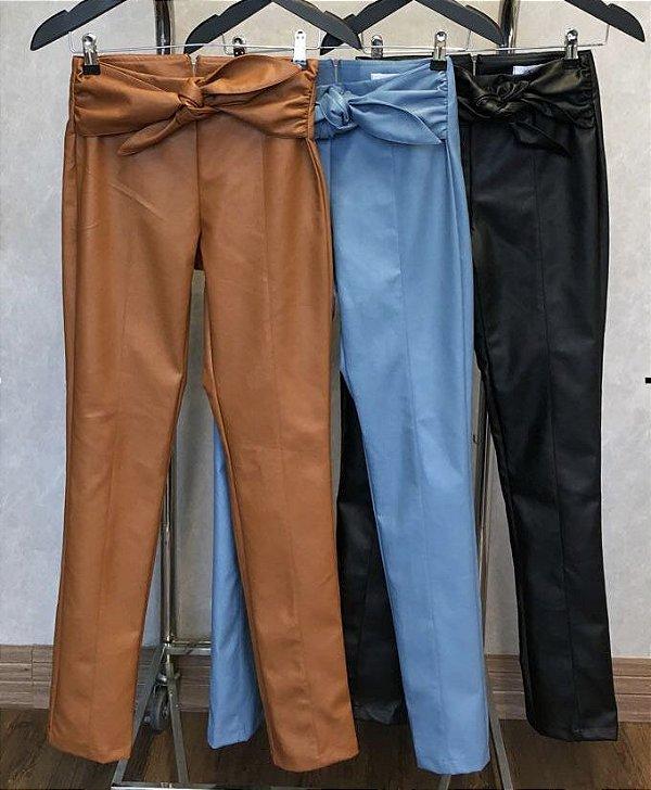 Calça Couro Ecológico - Azul (P veste 36)