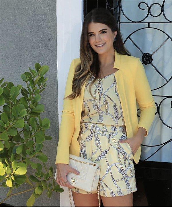 Shorts Estampa Cordas ( Amarelo e Rosa)