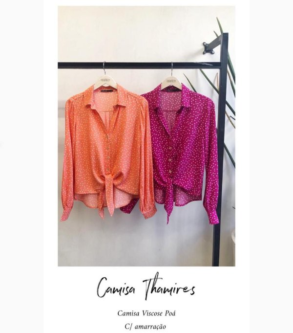 Camisa Thamires (CORAL e PINK)