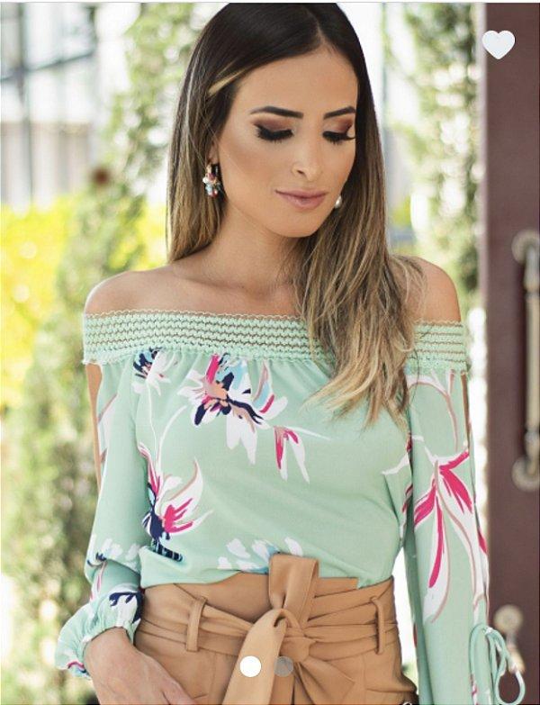 Blusa Floral Ombro a Ombro - Tamiris