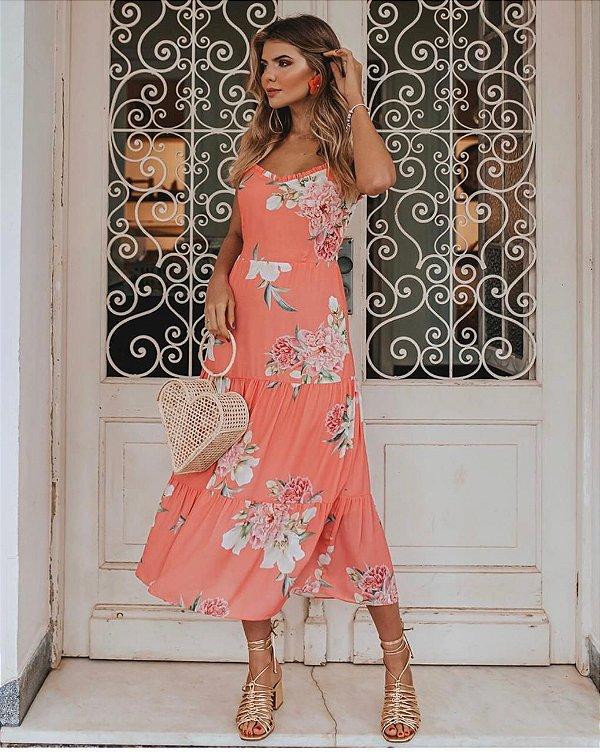 Vestido Midi Floral Larissa