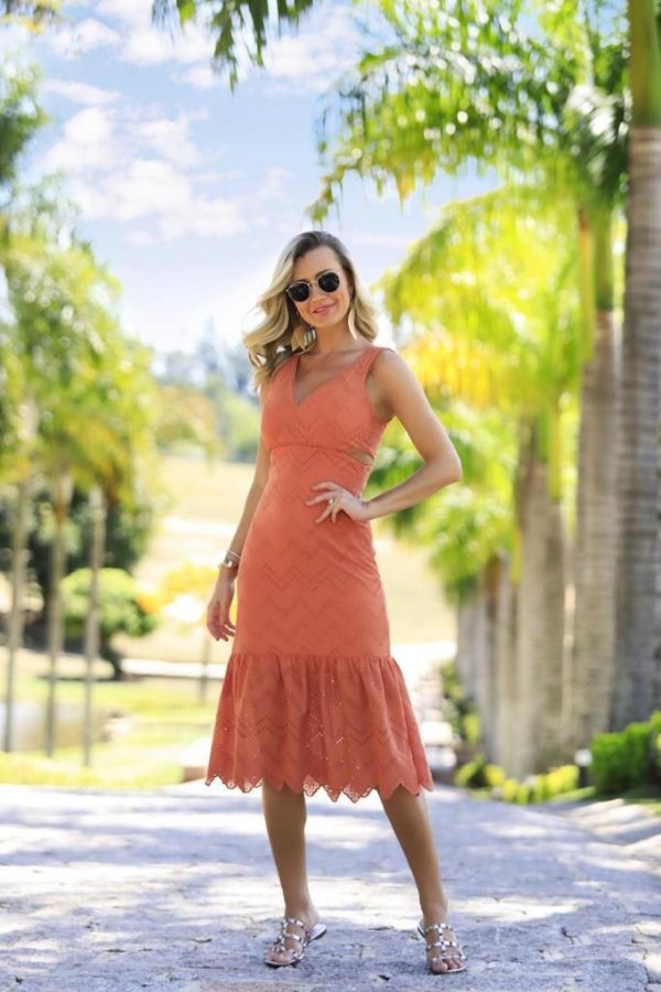 Vestido Laise Coral