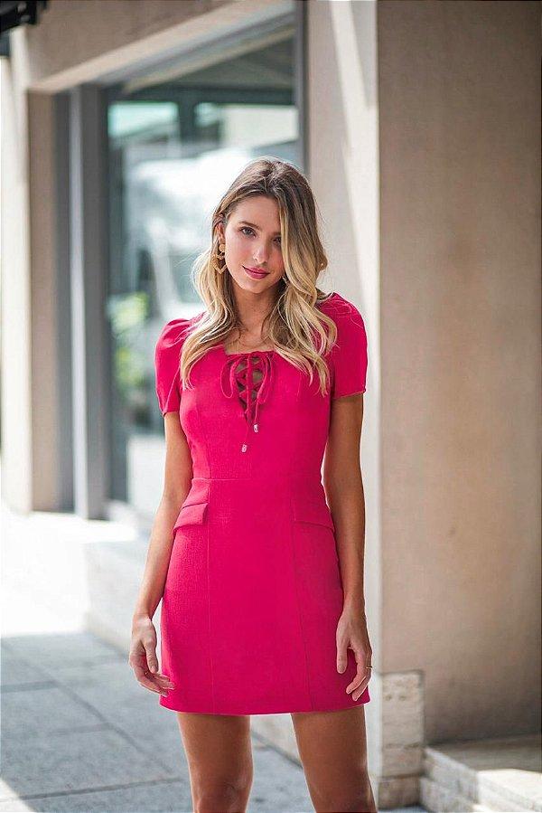 Vestido Linho Leila (Pink)