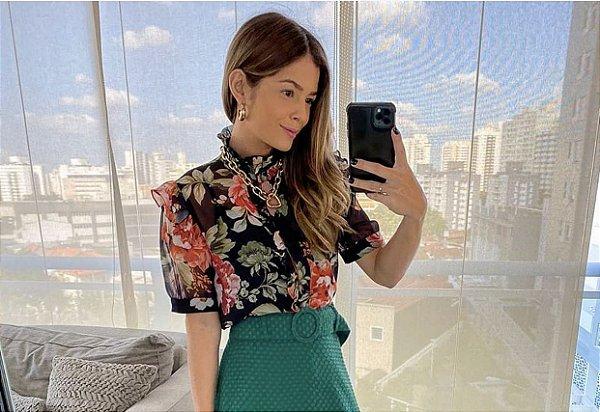 Blusa Floral Babados + Regata