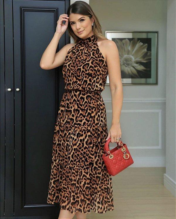 Vestido Animal Print - Izabel