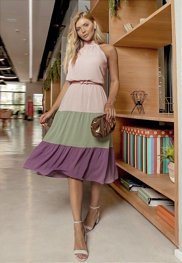 Vestido Tricolor - Thalia
