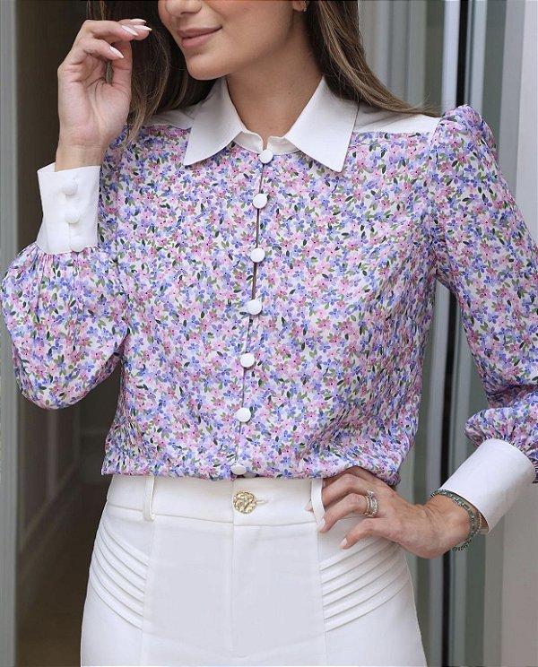 Camisa Crepe Floral Liberty