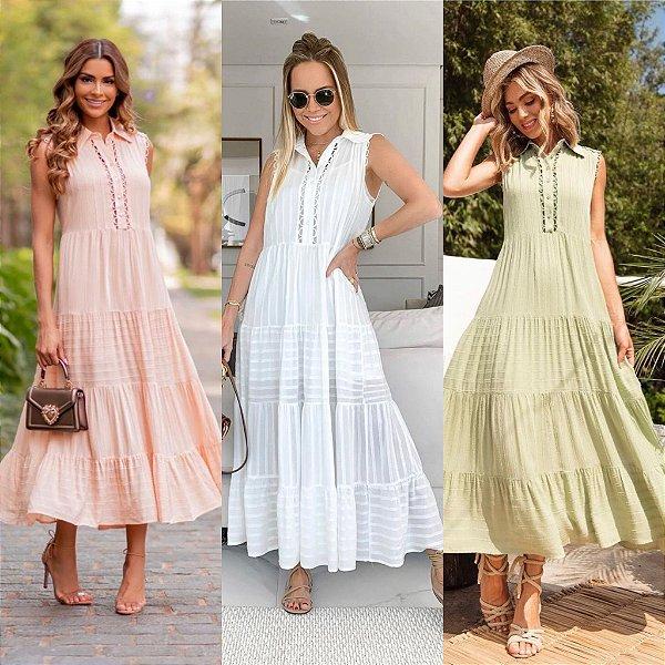 Vestido Thassia ( algodão com renda )