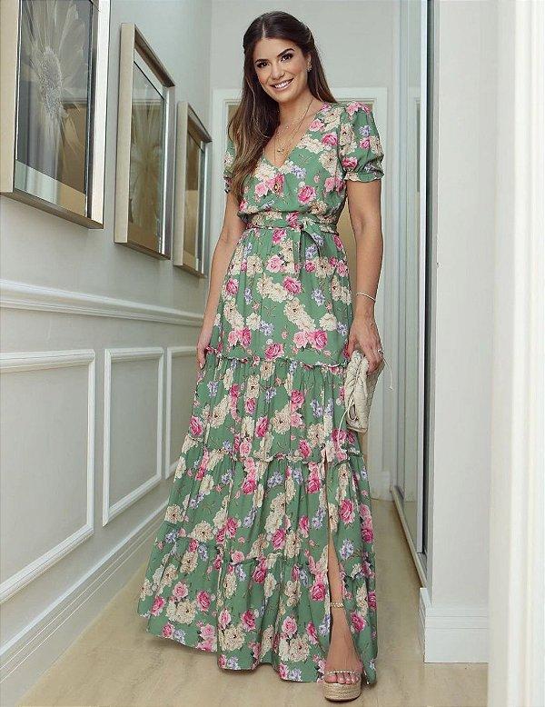 Vestido Longo Floral - Paula