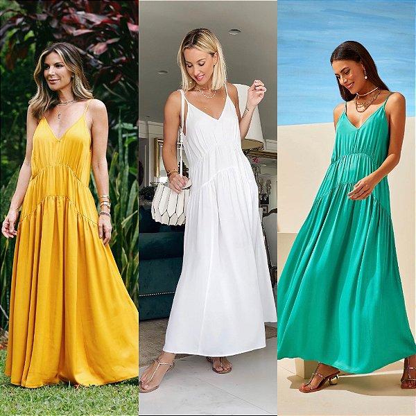 Vestido Longo Alça - Mariana