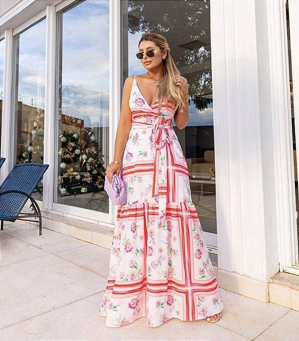 Vestido Crepe Longo - Catherine