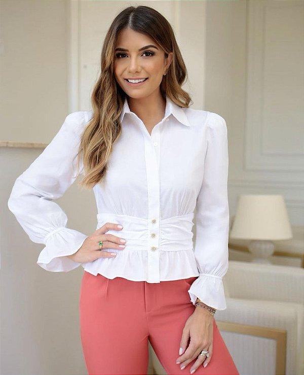 Camisa Tricoline - Juli