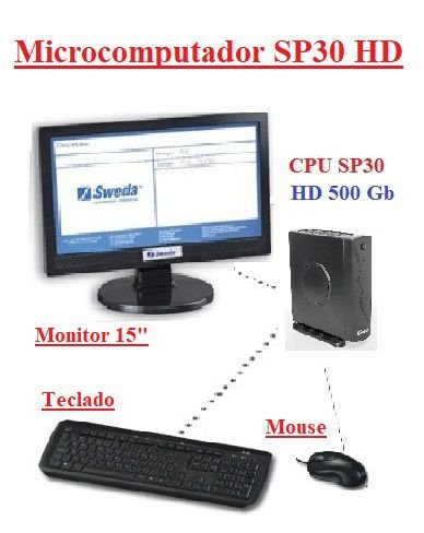 Microcomputador SP30 - CPU SP30 com HD 500Gb - SWEDA *** REVENDA AUTORIZADA ***