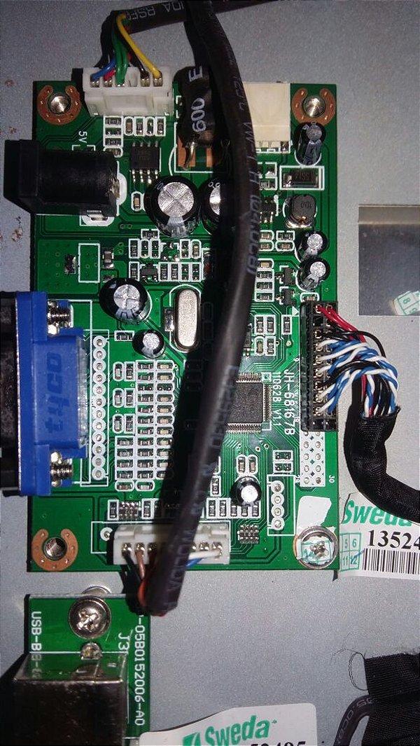 Placa VGA para Monitor SMT-200 - SWEDA *** REVENDA AUTORIZADA ***