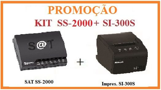 SAT FISCAL SS-2000E + Impressora de Cupom SI-300S [KIT] - SWEDA [PROMOÇÃO] ## REVENDA AUTORIZADA ##
