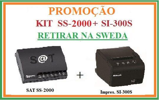 SAT FISCAL SS-2000E + Impressora de Cupom SI-300S [KIT] - SWEDA [PROMOÇÃO] {RETIRAR NA FABRICA} ## REVENDA AUTORIZADA ##