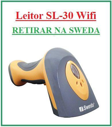 Leitor de Código de Barras Laser SL-30 (SEM FIO) - SWEDA {US$} {RETIRAR NA FABRICA} ** REVENDA AUTORIZADA **