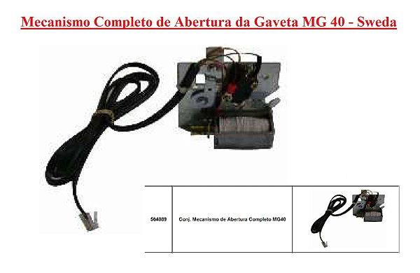 Mecanismo Completo de Abertura - Gaveta MG40 - SWEDA *** REVENDA AUTORIZADA ***