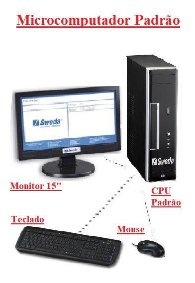 Microcomputador Padrão com Teclado Mouse e Monitor- SWEDA *** REVENDA AUTORIZADA ***