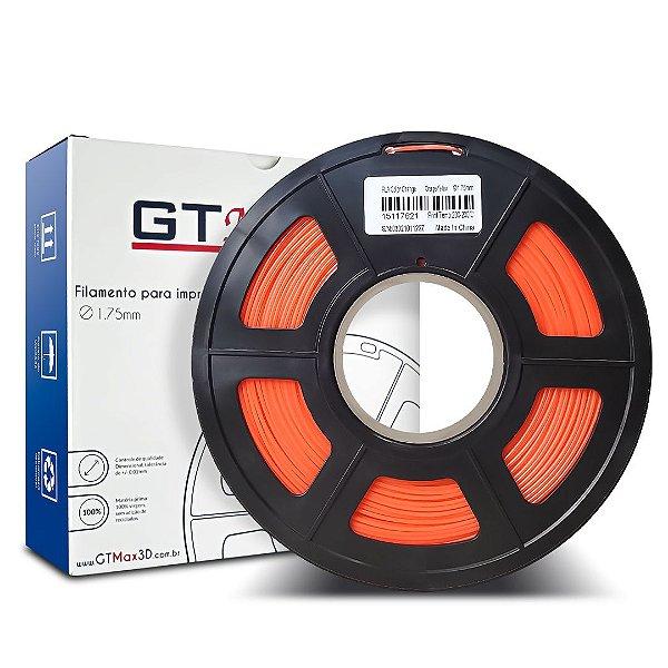 Filamento PLA Color Change 1.75mm GTMax3D - Laranja 1kg