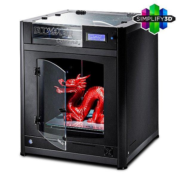 Impressora 3D Pro - GTMax3D Core A3 + Software Simplify3D + 1 kg de filamento ABS