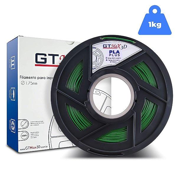 Filamento PLA 1.75mm GTMax3D - Verde 1kg