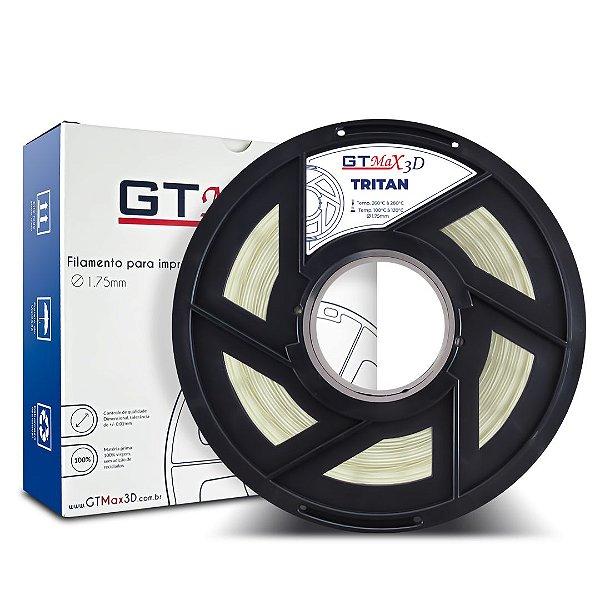 Filamento Tritan 1.75mm GTMax3D - Natural (Transparente) 1kg