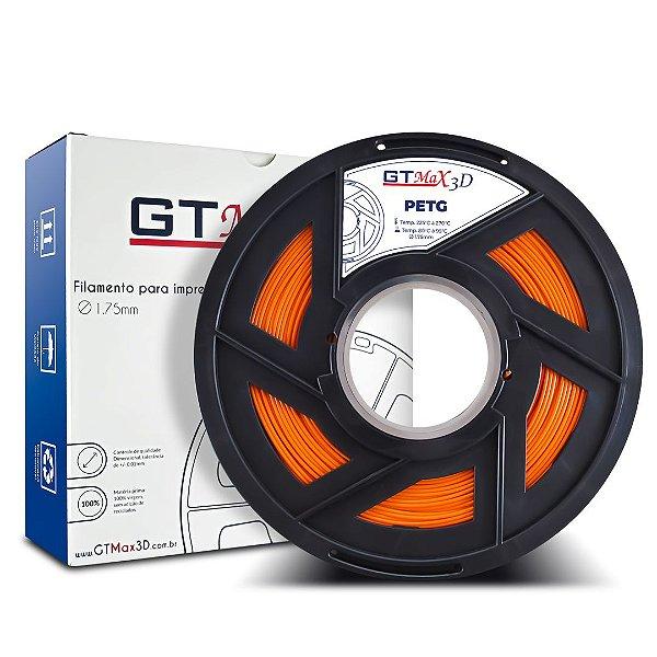 Filamento PETG 1.75mm GTMax3D - Laranja 1kg