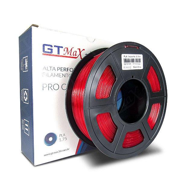Filamento PLA 1.75mm GTMax3D - Vermelho Translúcido 1kg