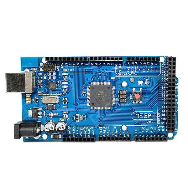 Arduino Mega 2560 R3 c/ Cabo USB + CD (ebook, Driver, Ide)