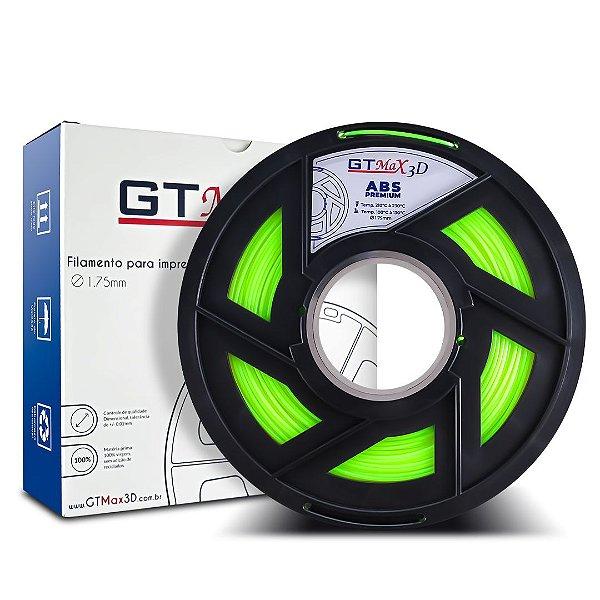 Filamento ABS Premium 1.75mm GTMax3D - Verde Fluorescente