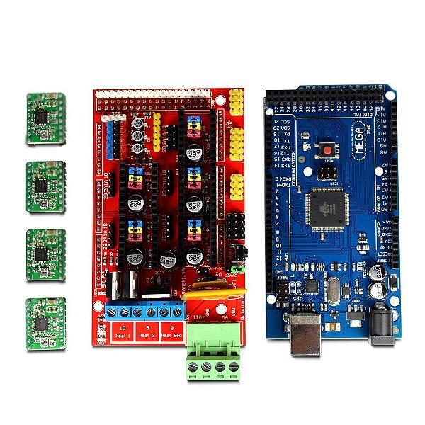 Kit Arduino Mega 2560 + Shield RAMPS 1.4 + 4 Driver A4988