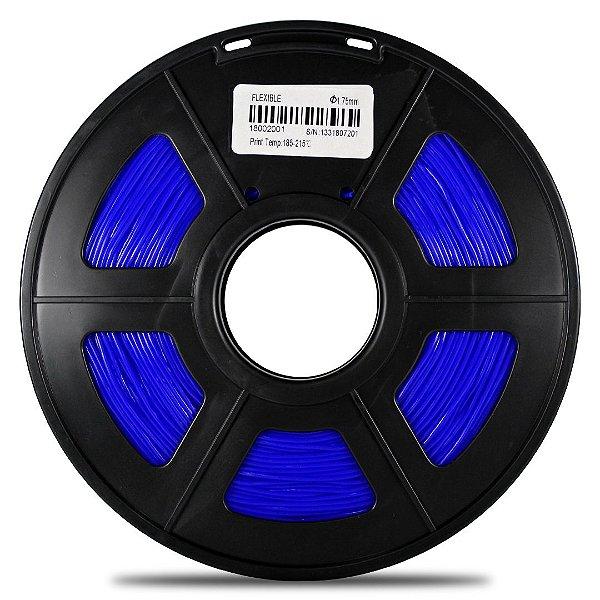 Filamento Flexível TPU 1.75mm GTMax3D - Azul 500g