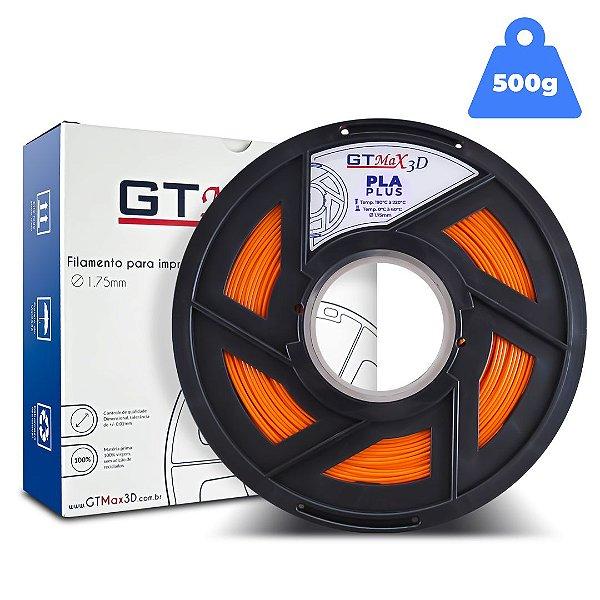 Filamento PLA 1.75mm GTMax3D - Laranja - 500g